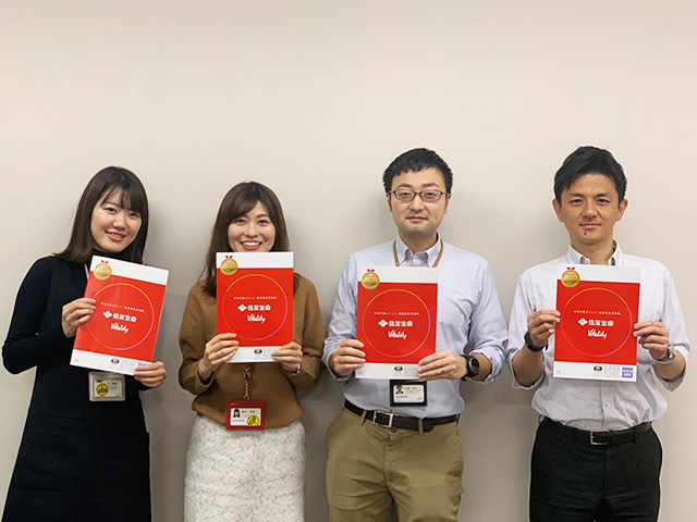 (写真左から)柴田 利佳 氏・高木 安美 氏・小田 圭介 氏・洞田 健一郎 氏